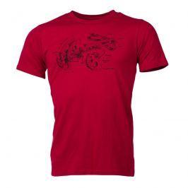 Pánské triko Northfinder Jael Velikost: XL / Barva: červená