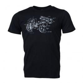 Pánské triko Northfinder Jael Velikost: XXL / Barva: černá