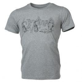 Pánské triko Northfinder Bridger Velikost: XXL / Barva: šedá