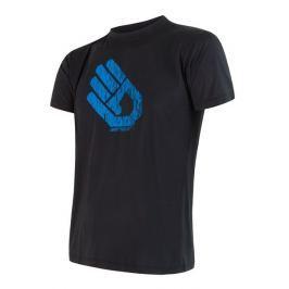Pánské triko Sensor Coolmax Fresh PT Hand Velikost: M / Barva: černá
