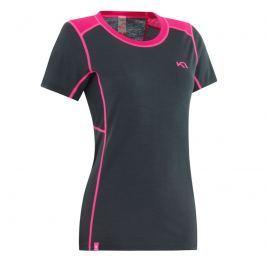 Dámské triko Kari Traa Tikse Tee Velikost: S / Barva: černá/růžová