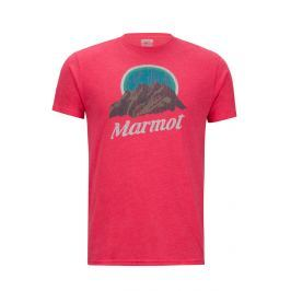 Pánské triko Marmot Pikes Peak Tee SS Velikost: XXL / Barva: červená