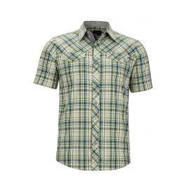 Pánská košile Marmot Riggs SS Velikost: S / Barva: zelená