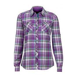 Dámská košile Marmot Wm's Lillian LS Velikost: M / Barva: fialová
