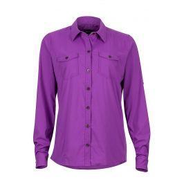 Dámská košile Marmot Annika LS Velikost: S / Barva: fialová