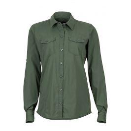 Dámská košile Marmot Annika LS Velikost: S / Barva: zelená
