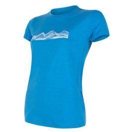 Dámské funkční triko Sensor Merino Active PT Mountains Velikost: L / Barva: modrá