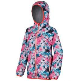 Dětská bunda Regatta Printed Lever Dětská velikost: 128 / Barva: růžová/modrá