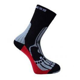 Ponožky Progress MRN 8MB Merino Velikost ponožek: 35-38 (3-5) / Barva: černá/červená Pánské ponožky