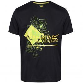 Pánské triko Regatta Fingal III Velikost: S / Barva: černá Pánská trička