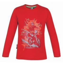 Dětské triko Loap Ivo Velikost: 98 / Barva: červená