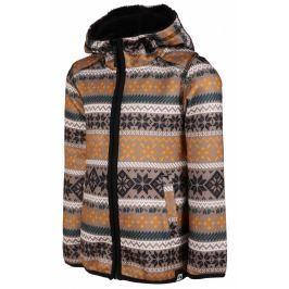 Dětský svetr Alpine Pro Oko Dětská velikost: 104-110 / Barva: hnědá Mikiny a svetry