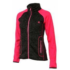 Dámský svetr Alpine Pro Ollia Velikost: XS / Barva: černá/růžová Dámské mikiny