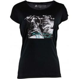Dámské triko Alpine Pro Ricca Velikost: L / Barva: černá Dámská trička