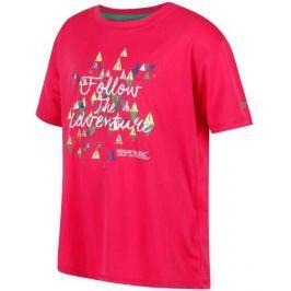 Dětské triko Regatta Alvarado III Dětská velikost: 140 / Barva: růžová