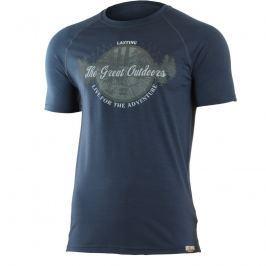 Pánské funkční triko Lasting Lucas Velikost: M / Barva: modrá