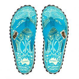 Dámské žabky Gumbies Islander Turquoise Pattern Velikost bot: 40 / Barva: turquoise