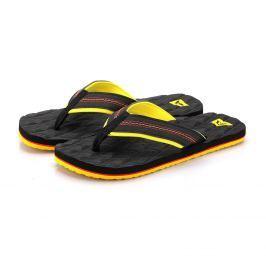 Pánské žabky Alpine Pro Nandu Velikost bot (EU): 43 / Barva: černá/žlutá