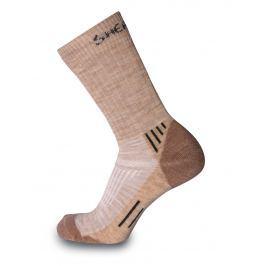 Ponožky Sherpax Juncal hnědé Velikost ponožek: 35-38 / Barva: hnědá
