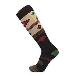 Podkolenky Sherpax Aiger vzor Velikost ponožek: 43-47 / Barva: černá/zelená