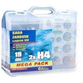 COMPASS  MEGA H4+H4+pojistky, náhradní sada 12V