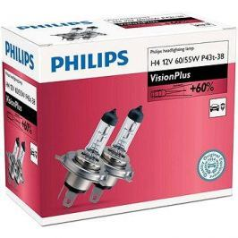 PHILIPS  H4 VisionPlus, 60/55W, patice P43t-38, 2 ks