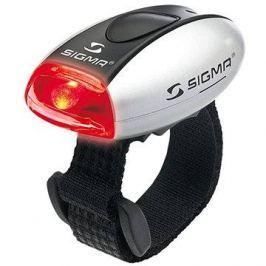 Sigma Micro stříbrná / zadní světlo LED-červená