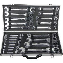 GEKO Sada ráčnových klíčů s kloubem, 22ks, 6-32mm