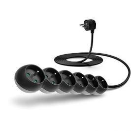 CONNECT IT prodlužovací 230 V, 6 zásuvek, 3m, černý