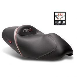 SHAD Komfortní sedlo vyhřívané černo/zelené, šedo/červené švy pro PIAGGIO/VESPA MP3 400 (2009-2013)