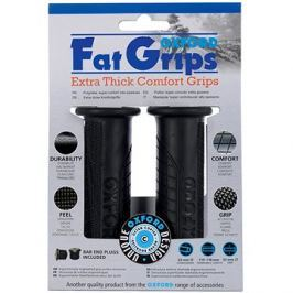 OXFORD gripy Fat grips, (černá pryž, tvrdost pryže medium, pár)