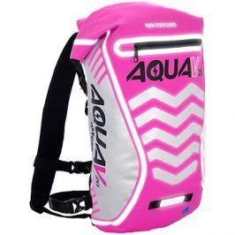 OXFORD vodotěsný batoh Aqua V20 Extreme Visibility, (růžová/reflexní prvky), objem 20l