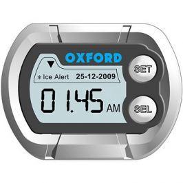 OXFORD hodiny a teploměr na motocykl voděodolné, (stříbrná)