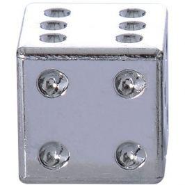 OXFORD kovové čepičky ventilků Lucky Dice, (stříbrná)