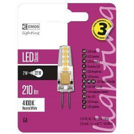 EMOS LED žárovka Classic JC A++ 2W G4 neutrální bílá
