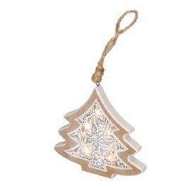 Solight LED vánoční stromek, dřevěný dekor
