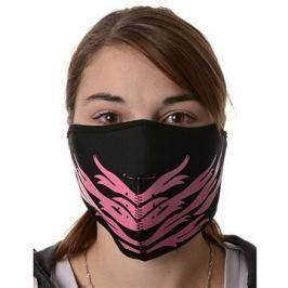 EMERZE maska neoprenová Pink Feather, černá/růžová