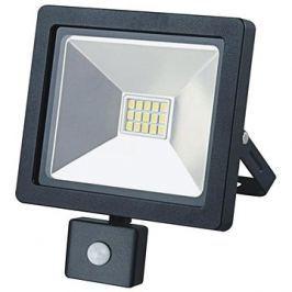 LED venkovní reflektor SLIM, 10W, 700lm, 3000K, se senzorem, černý