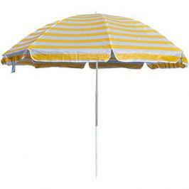HAPPY GREEN Slunečník plážový 230cm, žluté pruhy