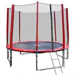 GoodJump 4UPVC červená trampolína 305 cm s ochrannou sítí + žebřík