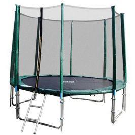 GoodJump 4UPVC zelená trampolína 305 cm s ochrannou sítí + žebřík
