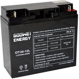 GOOWEI ENERGY OTL20-12, baterie 12V, 20Ah, DEEP CYCLE