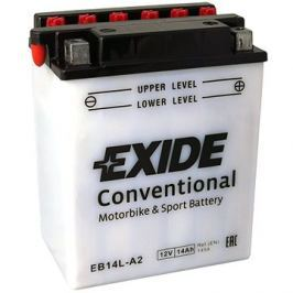 Motobaterie EXIDE BIKE Conventional 14Ah, 12V, YB14L-A2 / 12N14-3A