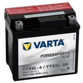 Motobaterie VARTA YTX5L-BS, 4Ah, 12V