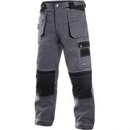 CXS Kalhoty do pasu ORION TEODOR šedo-černé, vel. 48