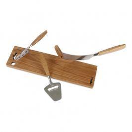 Boska 4dílná sada na sýr s dřevěným prkénkem Mini Oak