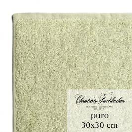 Christian Fischbacher Ručník na ruce/obličej 30 x 30 cm bledě zelený Puro, Fischbacher