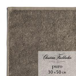 Christian Fischbacher Ručník pro hosty 30 x 50 cm hnědošedý Puro, Fischbacher