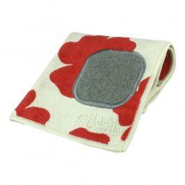 MÜkitchen Kuchyňský hadřík z mikrovlákna s drátěnkou red poppy MÜcloth