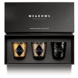 Meadows Dárková kolekce 3 vonných svíček mini Shadow Dance